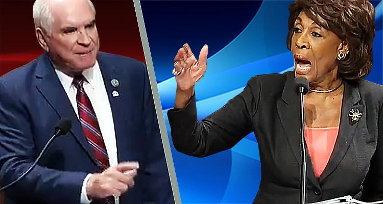 Watch Congresswoman Maxine Waters Rip A Republican Congressman In Half