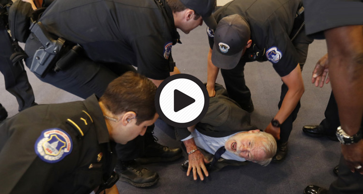 This Is What Trump's America Does To 78-Year-Olds Who Dare To Protest Torture – Video