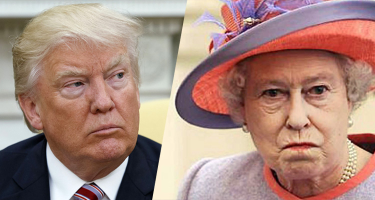 First He Insults The Queen, Now He Lies About Her